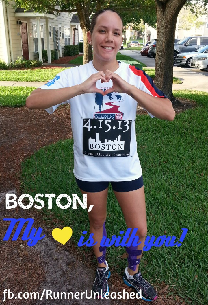 I ran 4.09 miles in honor of Boston with my husband