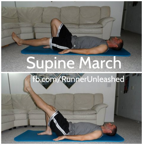 supine march