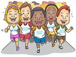 226232-Royalty-Free-RF-Clipart-Illustration-Of-A-Group-Of-Marathon-Runners