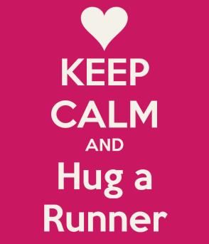 keep calm hug runner