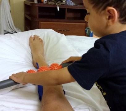 My little man massaging me