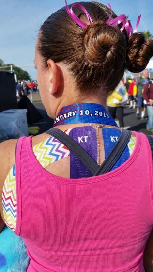 Scoliosis KT Tape runner