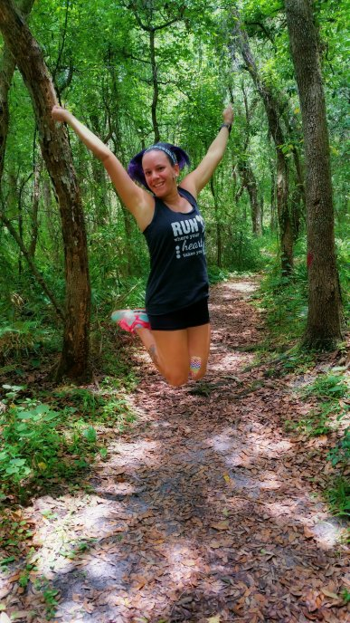 Running makes me happy!