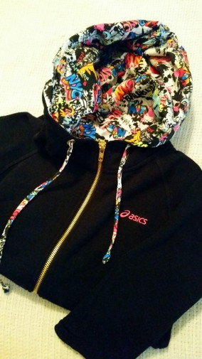 LOVE the graffiti on the hoodie!
